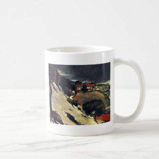 Snowmelt en Estaque de Paul Cézanne (la mejor cali Tazas De Café