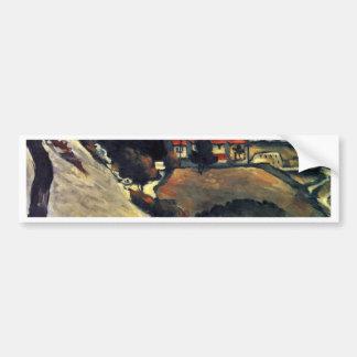 Snowmelt In Estaque By Paul Cézanne (Best Quality) Car Bumper Sticker