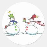 Snowmen.ai Pegatinas Redondas