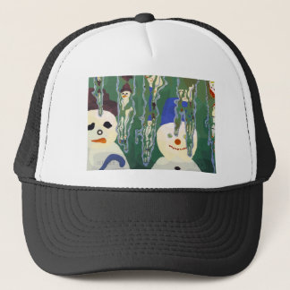 snowmen and icicles trucker hat
