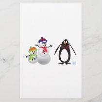 Snowmen and Penguin