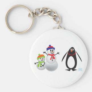Snowmen and Penguin Keychains