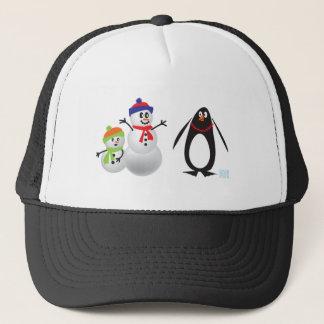Snowmen and Penguin Trucker Hat