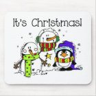 Snowmen and Penguins It's Christmas Mouse Pad