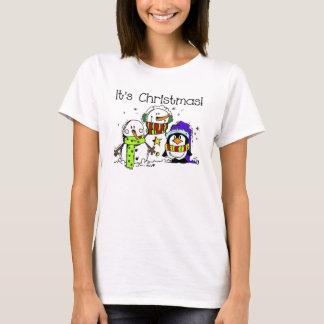 Snowmen and Penguins It's Christmas T-Shirt