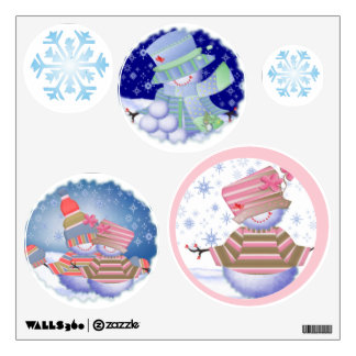 Snowmen and Snowflakes Wall Sticker