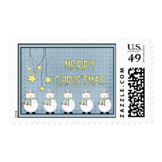 Snowmen and Stars X-Mas Stamp