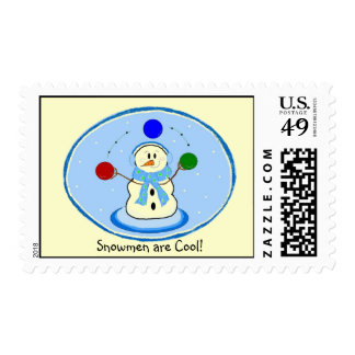Snowmen are Cool Postage Stamp