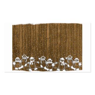 Snowmen Business Cards