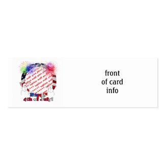 Snowmen Celebrating Freedom w/Flag Frame Business Card Template