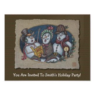 Snowmen Christmas Carolers Card