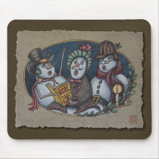 Snowmen Christmas Carolers Mouse Pad