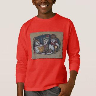 Snowmen Christmas Carolers T-Shirt