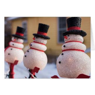 Snowmen Christmas Decorations Card