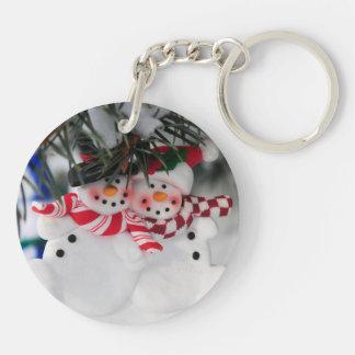 Snowmen Christmas ornament Keychain