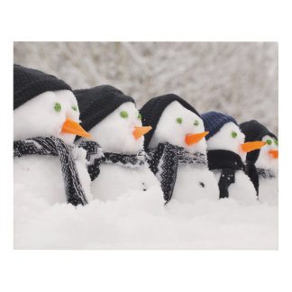 Snowmen Close Up In A Row Panel Wall Art