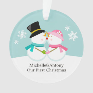 Snowmen Couple Custom Christmas