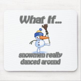 snowmen danced mouse pad