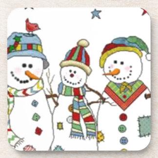 Snowmen Drink Coaster