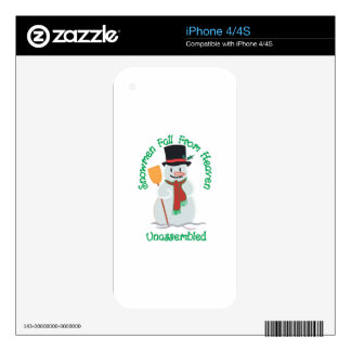 Snowmen Fall From Heaven iPhone 4S Decals