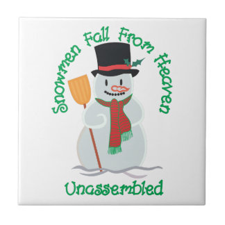 Snowmen Fall From Heaven Small Square Tile
