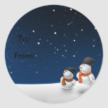 Snowmen father and son stickers