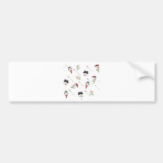 Snowmen Festive Christmas and New Year Bumper Sticker