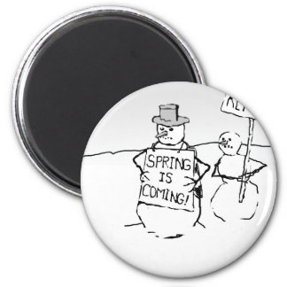 Snowmen, funny, apocalypse, end of the world, cart magnet