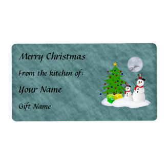 Snowmen Gift Label