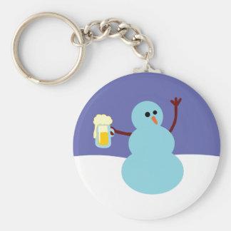 Snowmen Gone Wild! Keychain