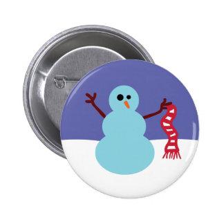 Snowmen Gone Wild! Pinback Button