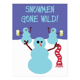 Snowmen Gone Wild! Postcard