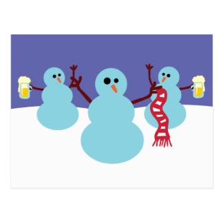 Snowmen Gone Wild! Post Card