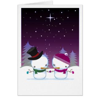 snowmen greeting cards