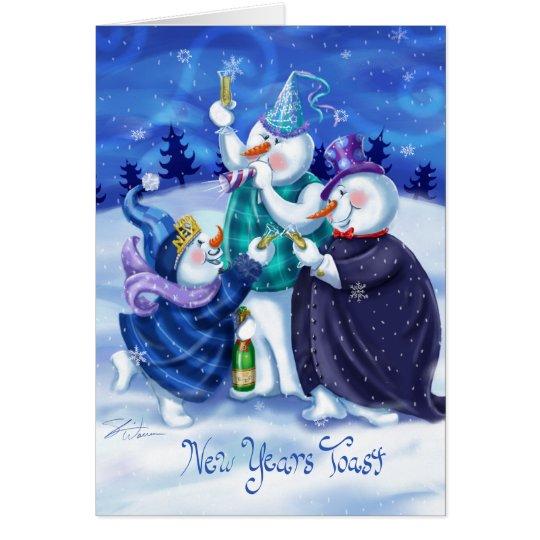 Snowmen Happy New Years Card