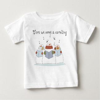 Snowmen Here We  Come A Caroling T-Shirt