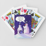 Snowmen Humor Bicycle Playing Cards
