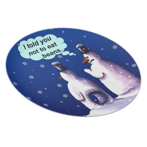 Snowmen Humor Dinner Plates