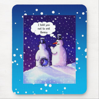 Snowmen Humor Mouse Pad