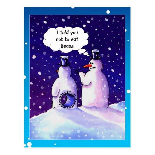 Snowmen Humor Postcard