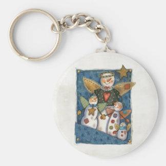 Snowmen in Pocket Keychain