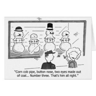 Snowmen in Prision Greeting Card