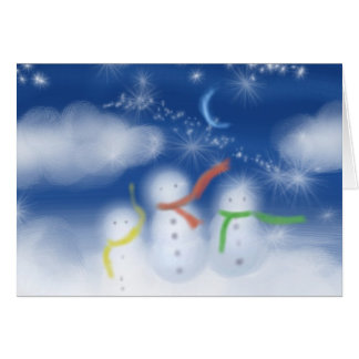 Snowmen in the clouds cards