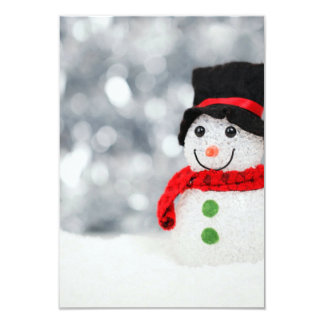 "Snowmen 3.5"" X 5"" Invitation Card"