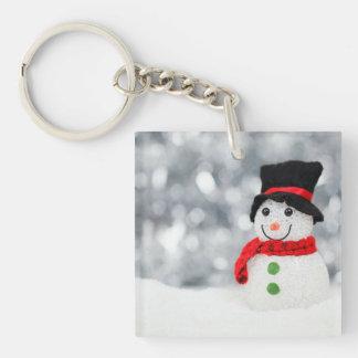 Snowmen Square Acrylic Key Chains