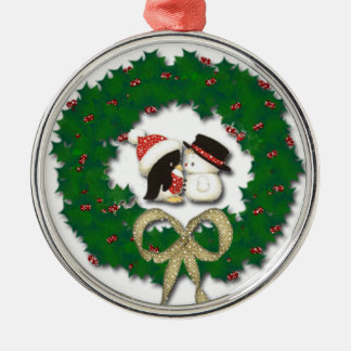 Snowmen Kissing Christmas Tree Ornament