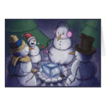 Snowmen Out Camping Cards