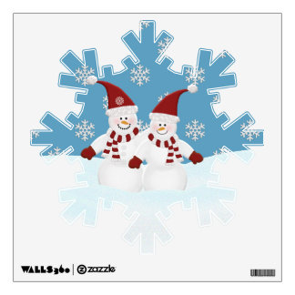 Snowmen : Snowflake Wall Decal