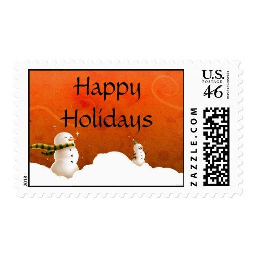 Snowmen Stamp