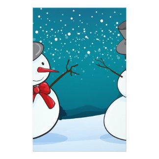 snowmen stationery
